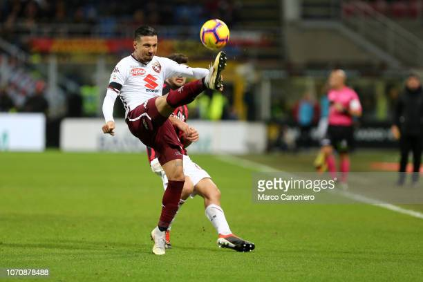 Armando Izzo of Torino FC in action during the Serie A football match between Ac Milan and Torino Fc The match end in a tie 00