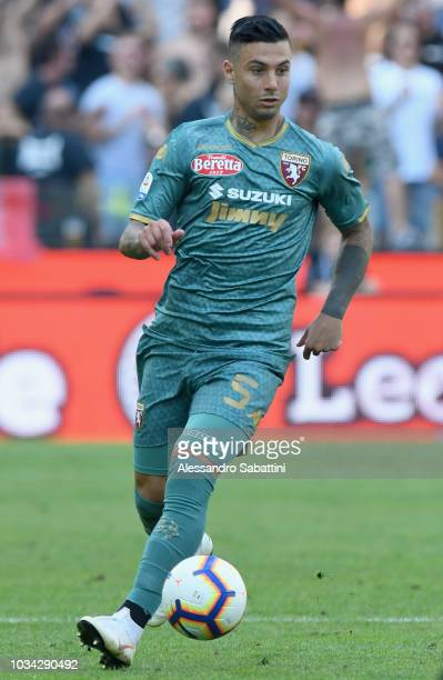 Armando Izzo of Torino FC in action during the serie A match between Udinese and Torino FC at Stadio Friuli on September 16 2018 in Udine Italy