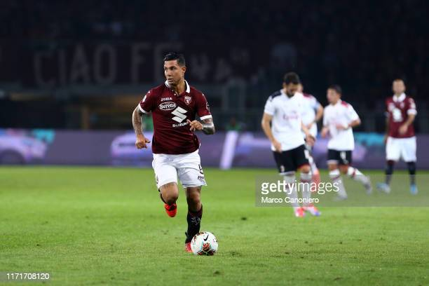 Armando Izzo of Torino FC in action during the Serie A match between Torino Fc and Ac Milan Torino Fc wins 21 over Ac Milan