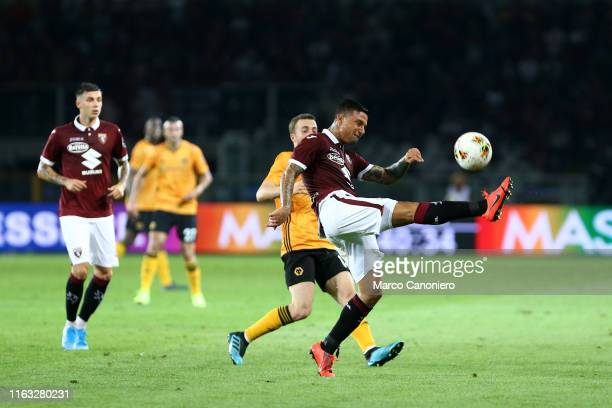 Armando Izzo of Torino FC in action during the UEFA Europa League playoff first leg football match between Torino Fc and Wolverhampton Wanderers Fc...