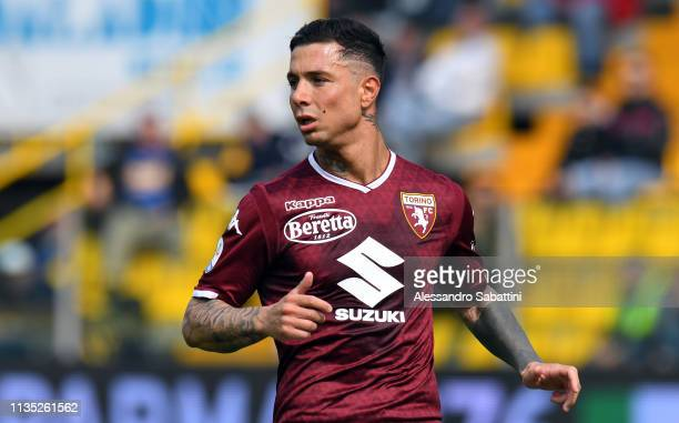 Armando Izzo of Torino FC looks on during the Serie A match between Parma Calcio and Torino FC at Stadio Ennio Tardini on April 6 2019 in Parma Italy