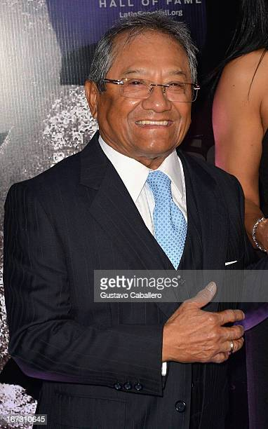 Armando Manzanero arrives at Latin Songwriters Hall of Fame Gala at New World Center on April 23 2013 in Miami Beach Florida