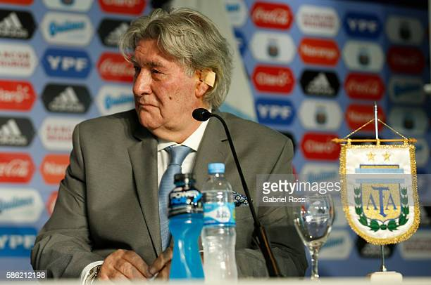 Armando Perez head of AFA normalizing committee during a press conference to announce Edgardo Bauza as new coach of Argentina at Julio Humberto...