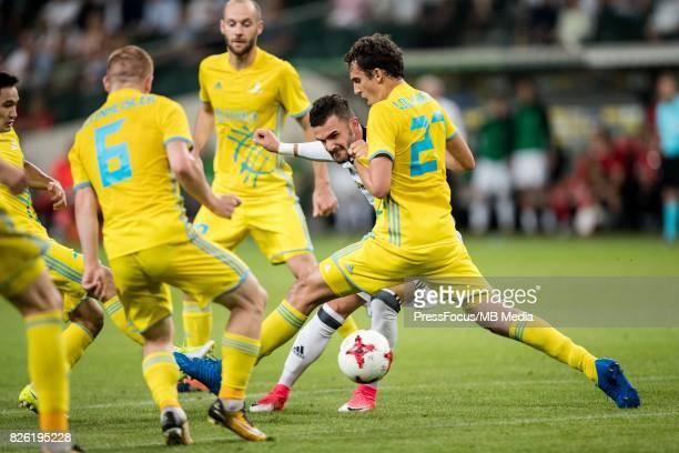 Armando Sadiku during the UEFA European Champions League Third Qualifying Round'nLegia Warszawa FC Astana at Stadion Wojska Polskiego on August 02...