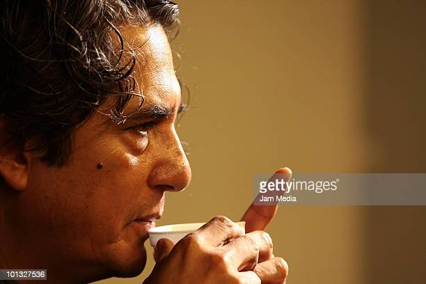 Armando Vega Gil El Uyuyuy member of the Mexican band Botellita de Jerez during a press conference to present their film Naco es Chido in the...