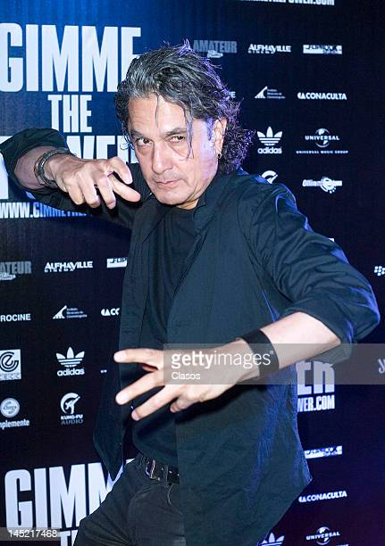 Armando VegaGil poses for a picture during the avant premiere of the documentary about the Mexican rock band Molotov titled Gimme the Power in the...