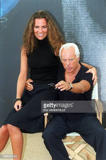 Armani and Niece Roberta in Venice Italia on September 11th 1999