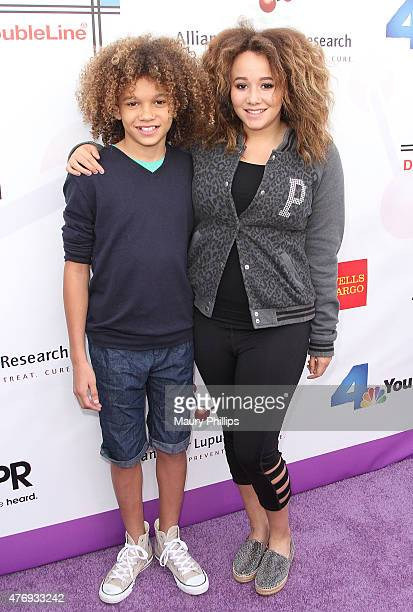 Armani and Talia Jackson arrive at The Alliance for Lupus research 8th Annual LA Area Walk with us to cure Lupus Walk Rock Twilight Stroll at Rose...