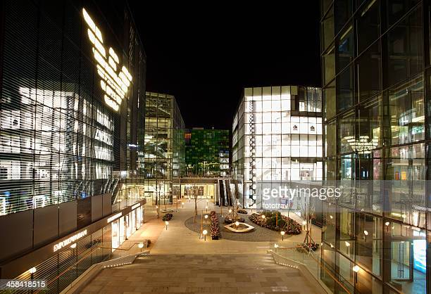armani shop in sanlitun north village, beijing - commercial real estate sign stock pictures, royalty-free photos & images
