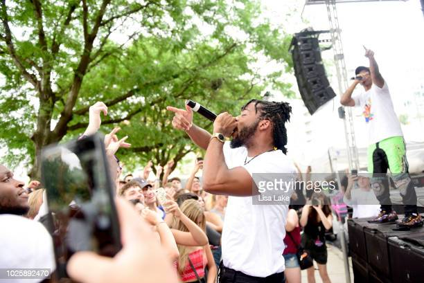Armani White performs on the Skate Stage during the 2018 Made In America Festival - Day 1 at Benjamin Franklin Parkway on September 1, 2018 in...
