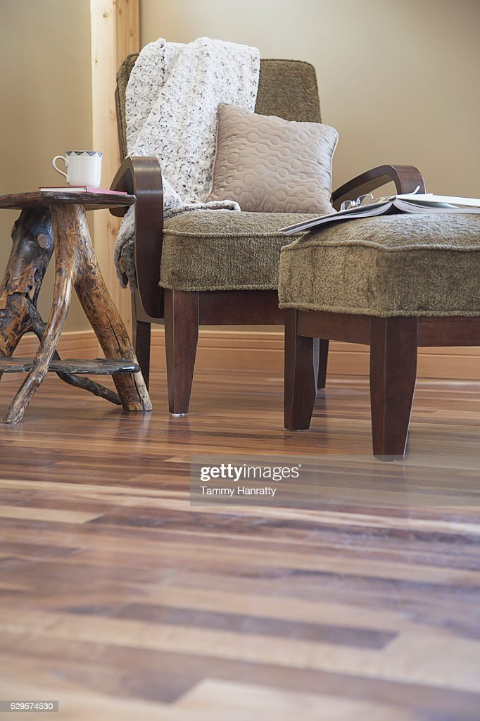 Armchair and table : Stock Photo