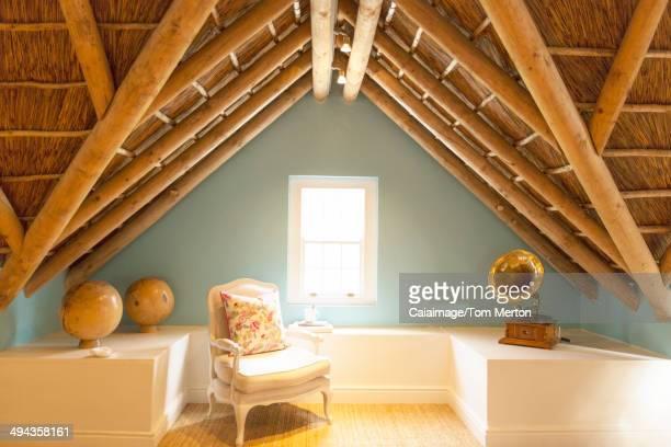 Armchair in luxury attic