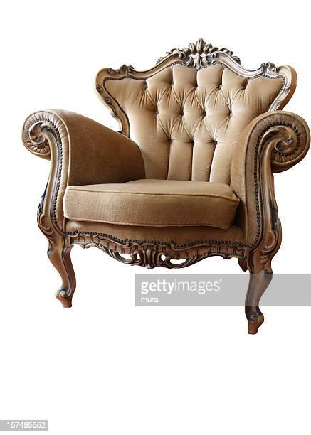 armchair isolated on white - forntida bildbanksfoton och bilder