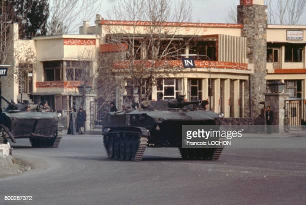 Armée soviétique, le 29 décembre 1979, à Kaboul, Afghanistan.