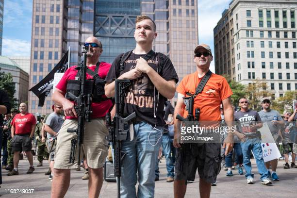 Armed activists during a progun rally against the general gun control agenda in Columbus