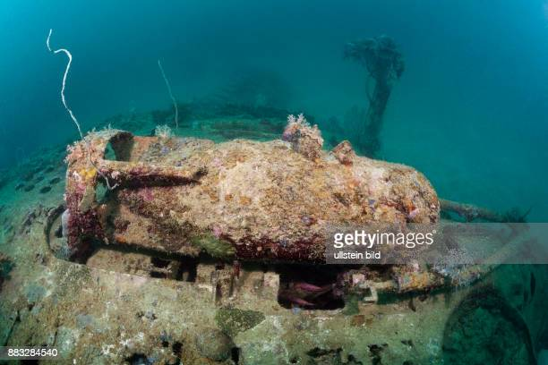 Armed Bomb at Dauntless Dive Bomber Wreck Marovo Lagoon Solomon Islands