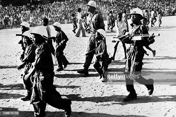 Armed children of the MPLA parade in Luanda on February 16 1976 After independence Angola was the scene of an intense civil war from 1975 to 2002...