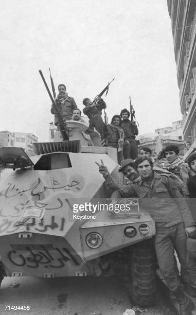 Armed fighters during the Civil War in Lebanon December 1975