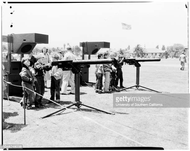 Armed Forces Day at Los Angeles Harbor 17 May 1952 Mrs Marlene McArthurFC Frank J McArthurRandy McArthur 2Michael Farlow 10Bert GriffinClifford...