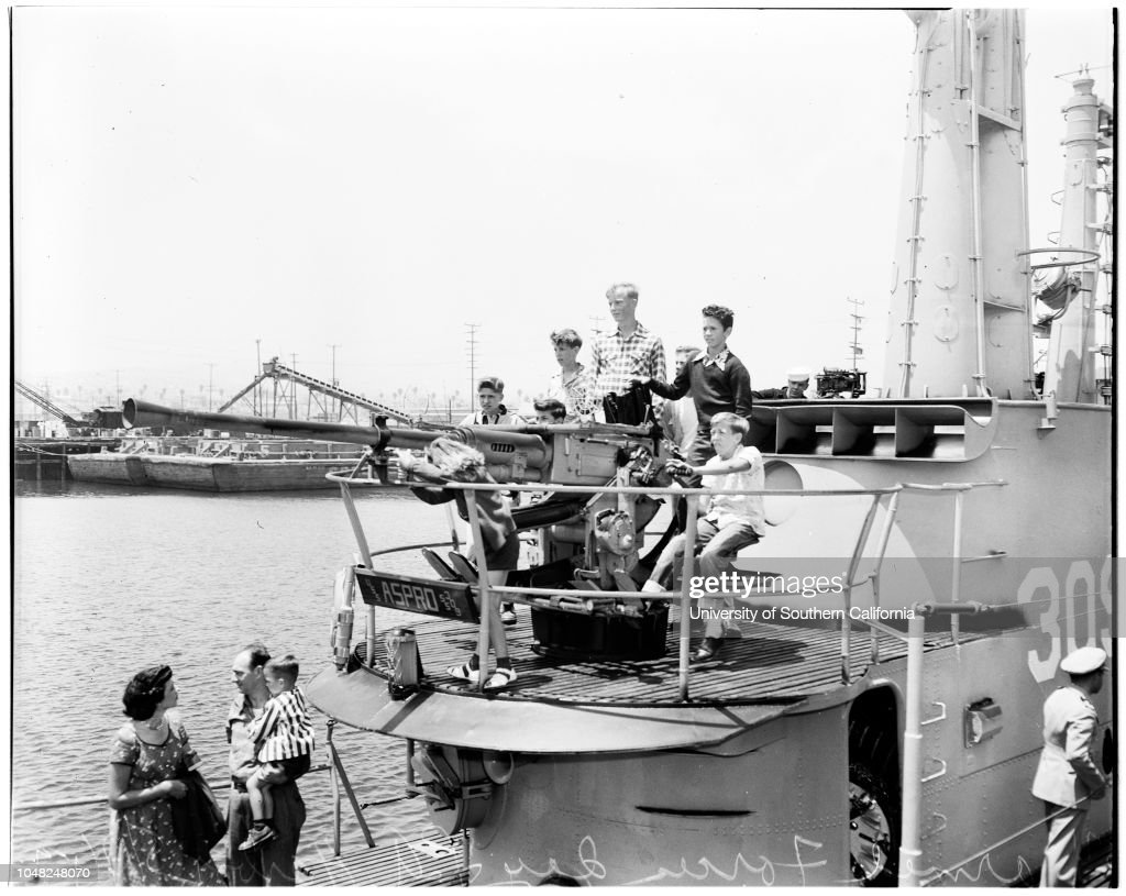 Armed Forces Day at Los Angeles Harbor, 1952 : News Photo
