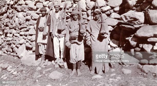Armed levy escort at Utzun North West Frontier Pakistan 1918