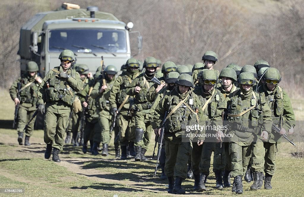 UKRAINE-RUSSIA-POLITICS-UNREST-CRIMEA-TROOPS : News Photo