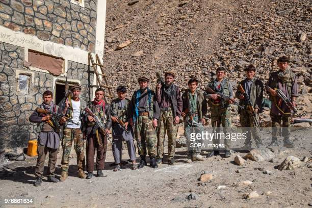 BADAKHSHAN AFGHANISTAN Armed men of a local militia at an outpost to protect the lapis lazuli mines located between the mines and the village of...