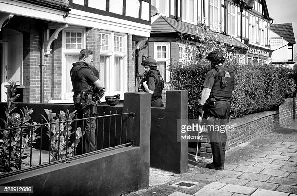 Armed police at an incident