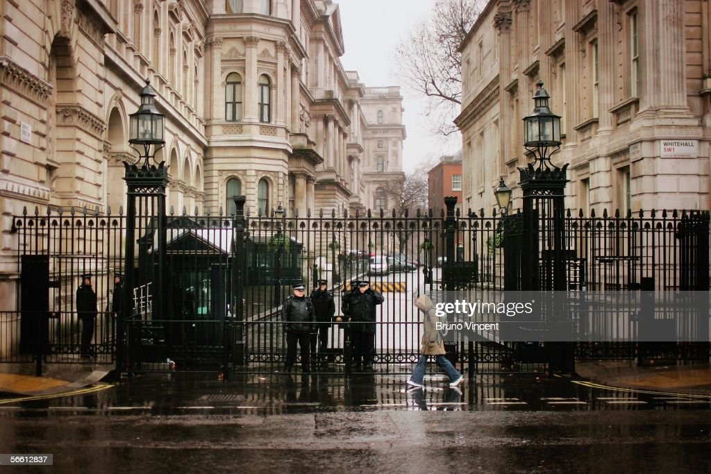 Security At Downing Street After Kidnap Plot Revealed : News Photo
