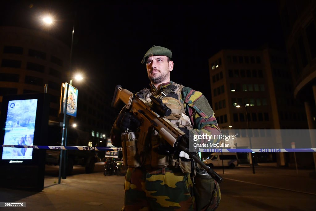 Suspected Suicide Bomber Neutralised At Brussels Station : News Photo