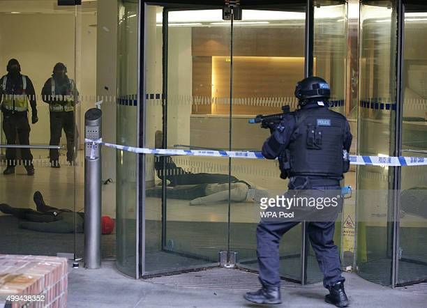 Armed Response Vehicle officers during a Metropolitan Police training programme for armed officers for the eventuality of a terrorist firearms attack...