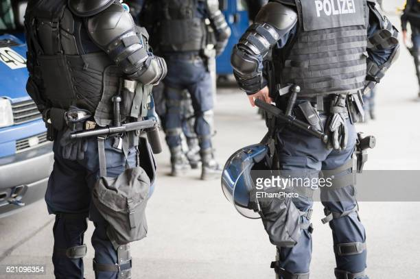armed swiss police squad - truncheon stock pictures, royalty-free photos & images