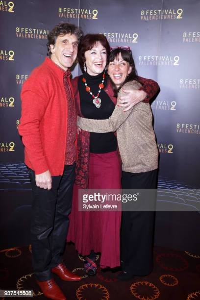Armelle and Humorist Gilles Benizio Corinne Benizio aka Shirley et Dino and Anny DUperey attend the photocall before the closing ceremony of...