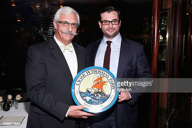 Armen Petrossian and Alexandre Petrossian attend Petrossian's editorial showcase on October 8 2014 in New York City