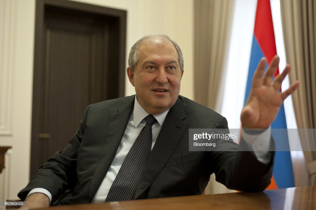 Armenia's President Armen Sarkissian Interview : News Photo