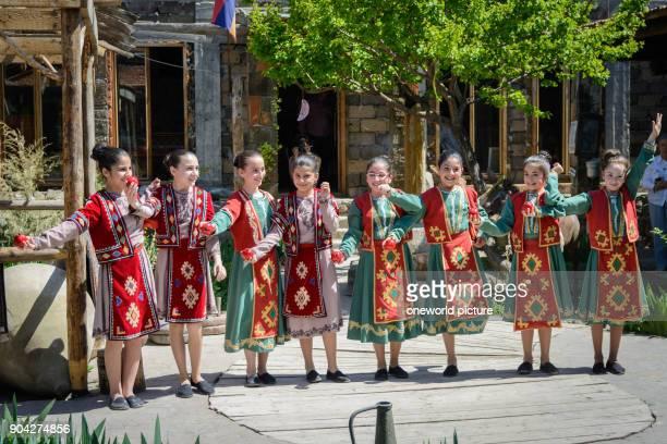 Armenia Armavir province Vagharshapat folk festival on Easter Sunday at the cathedral