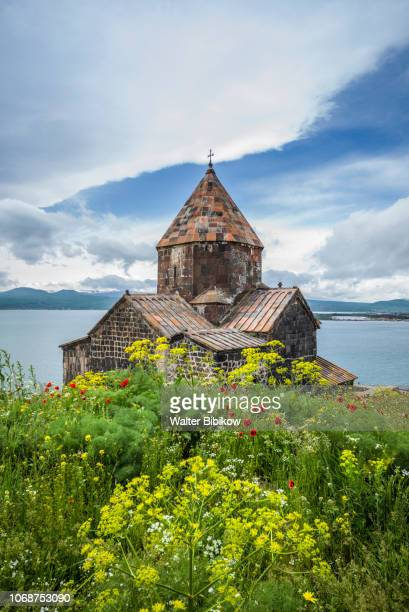 armenia, lake sevan, sevan, sevanavank monastery - armenia stock pictures, royalty-free photos & images