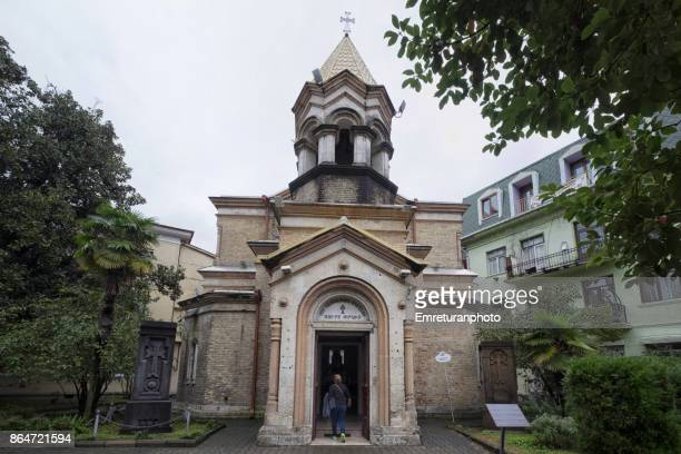 armenian apostolic church of st.christ. facade,batumi. - emreturanphoto stock pictures, royalty-free photos & images