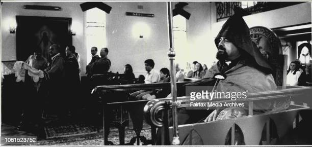 Armenian church gathered to celebrate Christmas at Chatswood January 5 1988