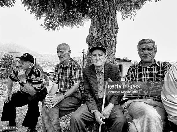 CONTENT] Armenian men in the square in front of Sanahin Monastery Armenia
