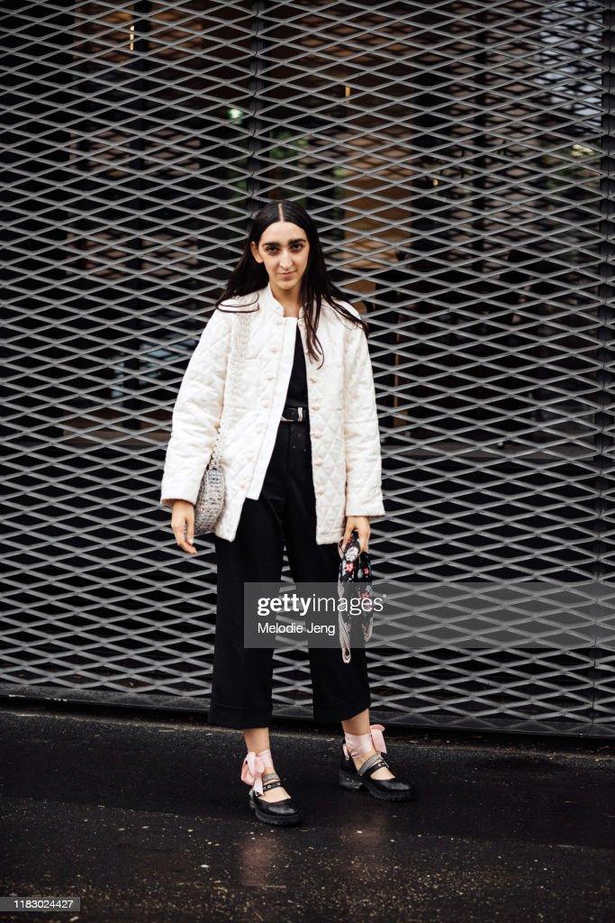 Street Style: September 22 - Milan Fashion Week Spring/Summer 2020 : News Photo