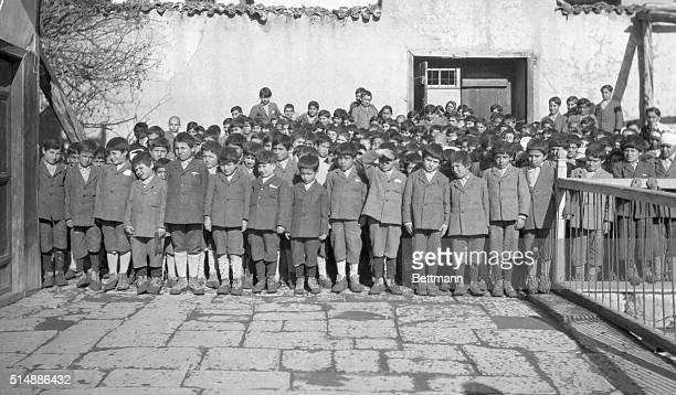 Armenian orphans in Miss Edith D Cushman's orphanage