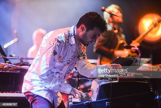 Armenian pianist and composer Tigran Hamasyan and his quintet perform on stage at Queen Elizabeth Hall during day 5 of London Jazz Festival 2013 on...