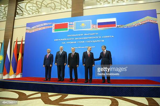 Armenian Presdent Serge Sargsyan Belarussian President Alexander Lukashenko Kazakh President Nursultan Nazarbayev Russian President Vladimir Putin...