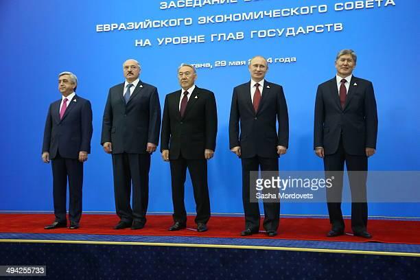 Armenian President Serg Sargsyan Belarussian President Alexander Lukashenko Kazakh President Nursultan Nazarbayev Russian President Vladimir Putin...