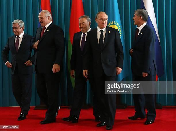 Armenian President Serge Sargsyan Belarussian President Alexander Lukashenko Kazakh President Nursultan Nazarbayev Russian President Vladimir Putin...