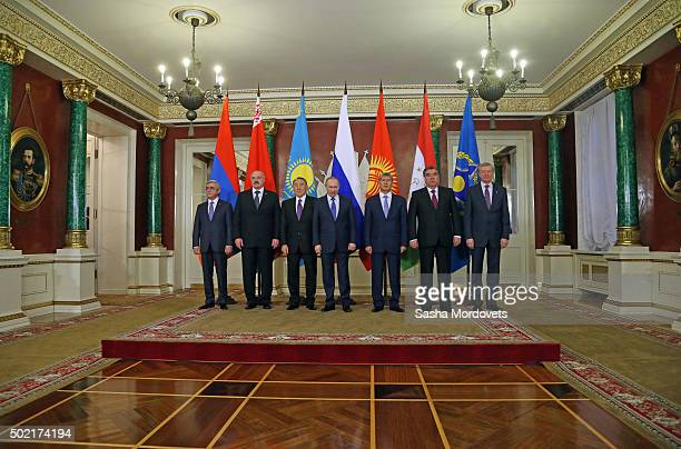 Armenian President Serge Sargsyan, Belarussian President Alexander Lukashenko, Kazakh President Nursultan Nazarbayev, Russian President Vladimir...