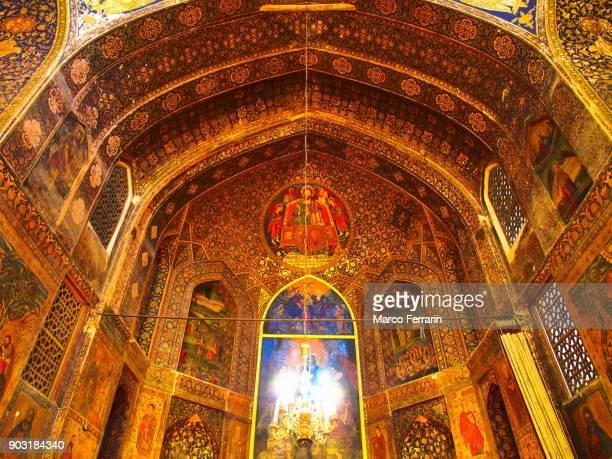 Armenian Religious Artwork, Interior view of the Bedkhem Church in Isfahan, Iran