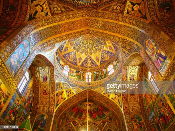 Armenian Religious Artwork, Interior view of the Vank Cathedral in Isfahan, Iran