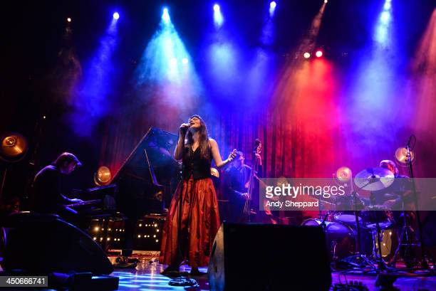 Armenian singer Elina Duni performs on stage at Queen Elizabeth Hall during day 5 of London Jazz Festival 2013 on November 19 2013 in London United...